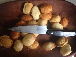 Chef Knife Madeleine Cookies Food