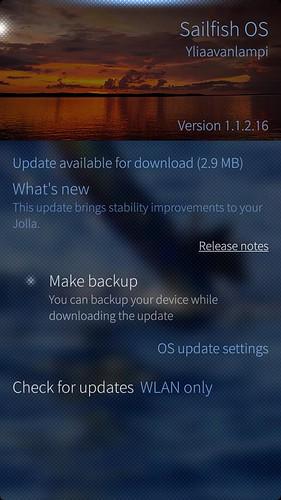 Sailfish OS v.1.1.2.16 Ylliaavanlampi