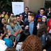 LMU School of Film & Television posted a photo:	Students happily meet Sir Kenneth Branagh during The Hollywood Masters reception in front of the film school. | Photo by Juan Tallo