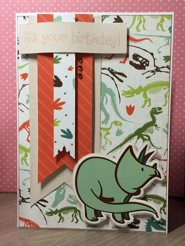 Dinosaur card by StickerKitten