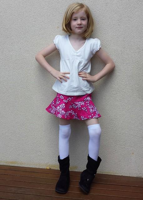 Lucy La La skirt sewn (mostly) by Stella