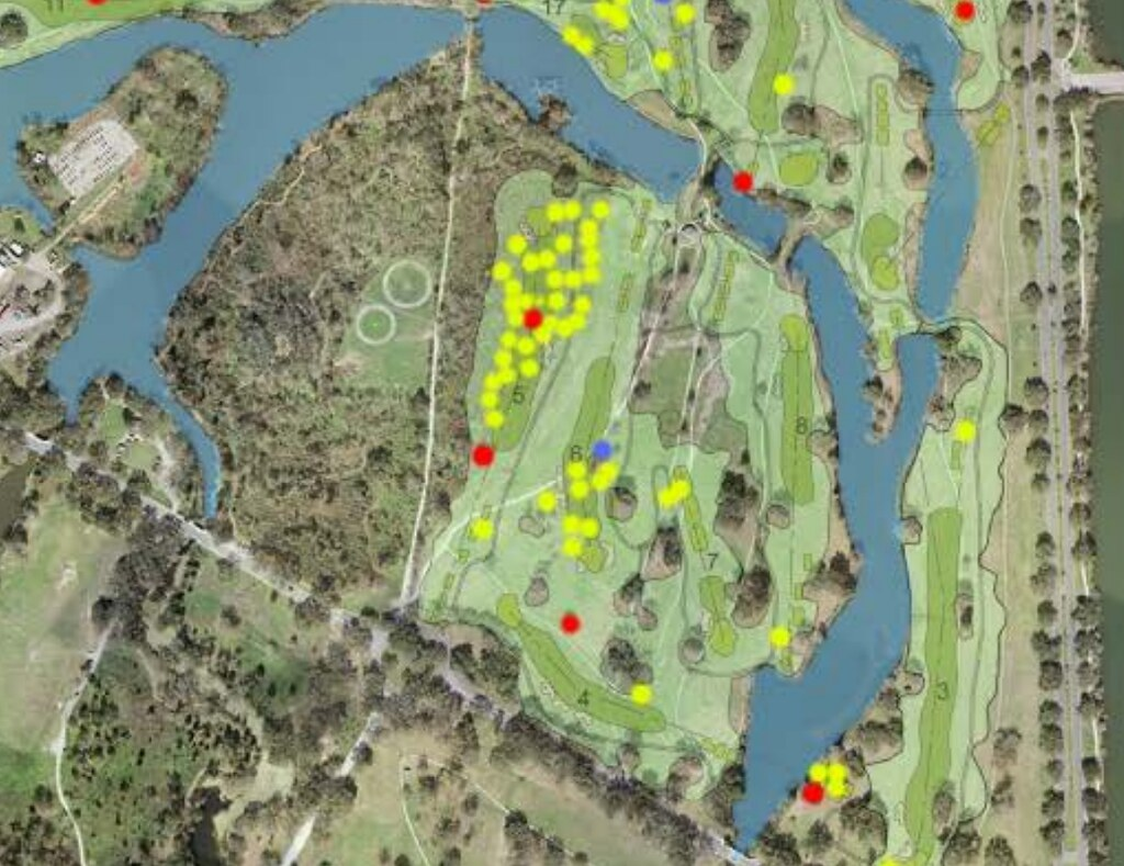 A Map of trees to be cut from Couturie Forest for Hole #5