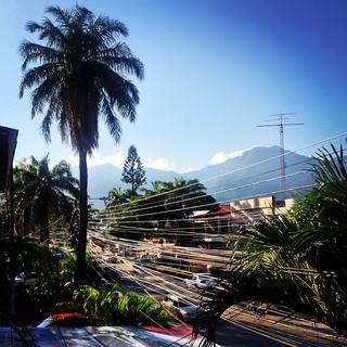 View from Banana Republic hostel, La Ceiba