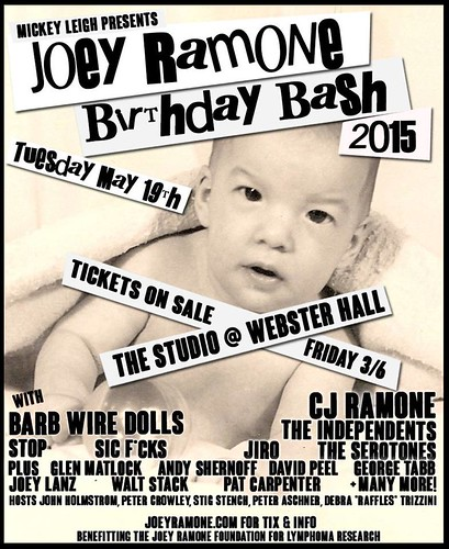 05/19/15 Joey Ramone Birthday Bash 2015 @ The Studio @ Webster Hall, NYC, NY