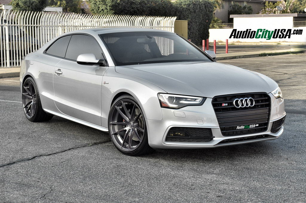 2013 Audi s5 | 20x10.5 Stance SC-1 Titanium Brush Wheels | Hankook Tires | H&R lowering springs