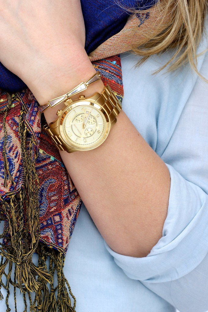 michael kors large runway watch