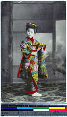 geisha, costume design, illustration, person,