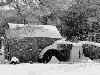 Grist Mill (black and white)