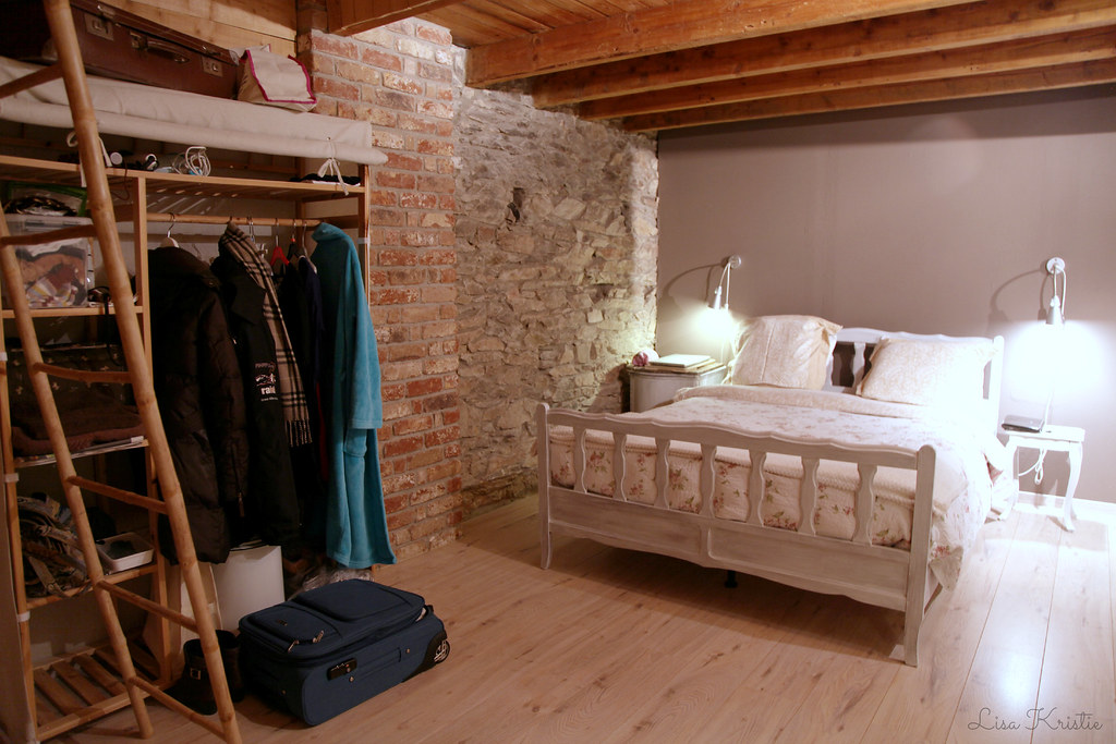 bedroom weekend rental cozy countryside stone wall rustic cottage europe belgium ardennes
