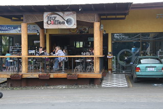 Good Coffee and WIFI.  La Fortuna, Costa Rica.