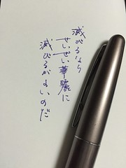 Pen and message 山野草