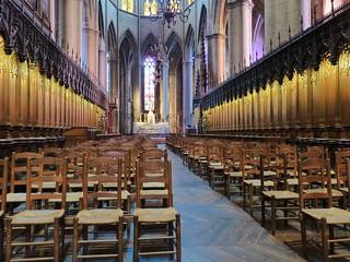 Interior de la Catedral de Rodez (Francia)
