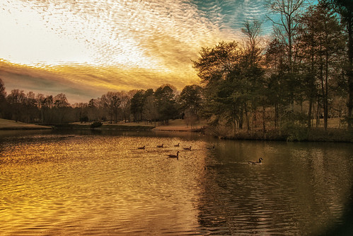 sunset lake landscape golden northcarolina gastonia heatherlock dorameulman