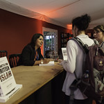 Sara Khan Book Signing | One of Woman's Hour Top Ten Influencers of 2015 signs copies of her book, The Battle for British Islam © Robin Mair