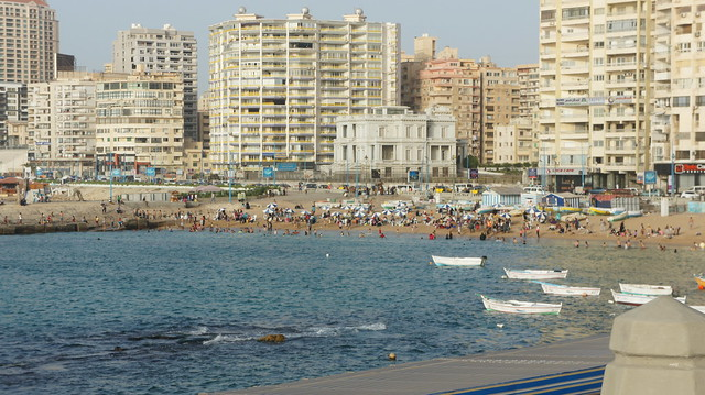 An overview for public beach in Alexandria