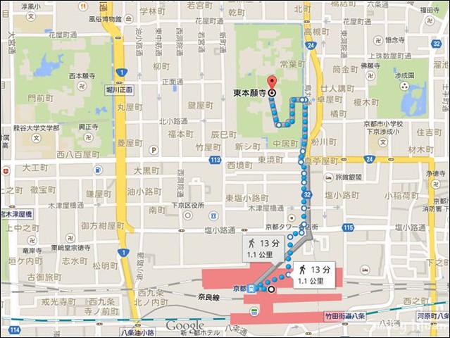 東.西本願寺地圖