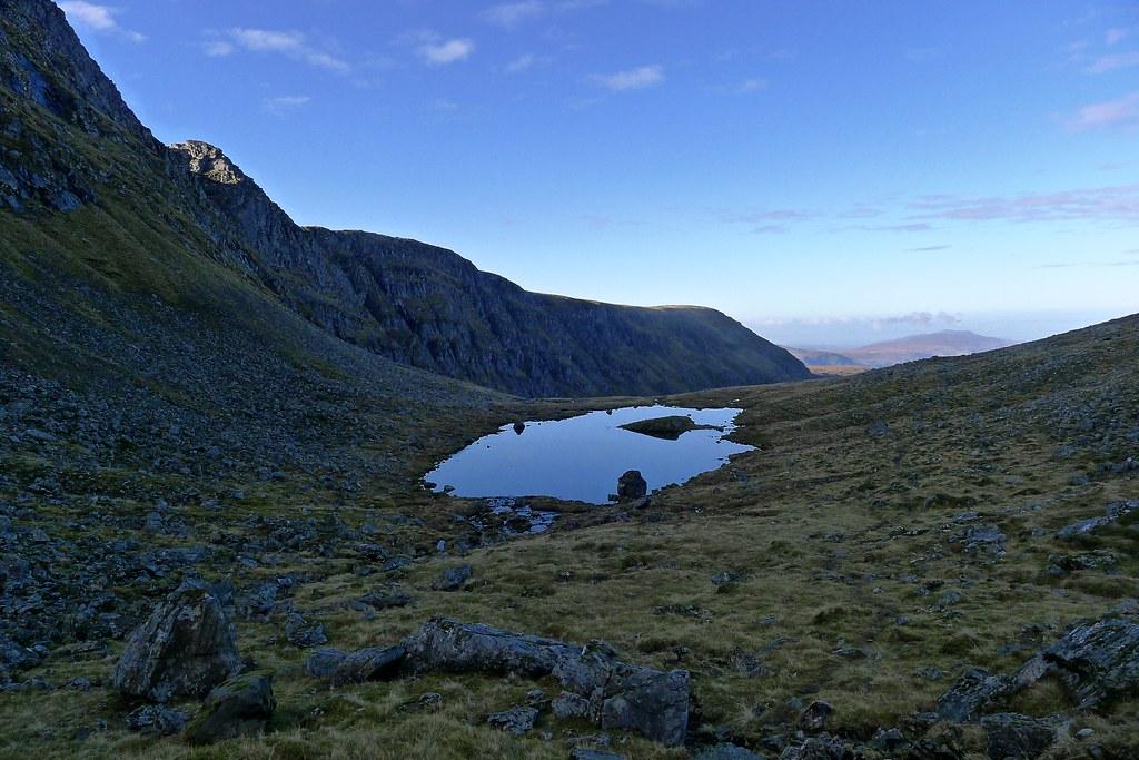 Lochan Lathail below Beinn Dearg's crags