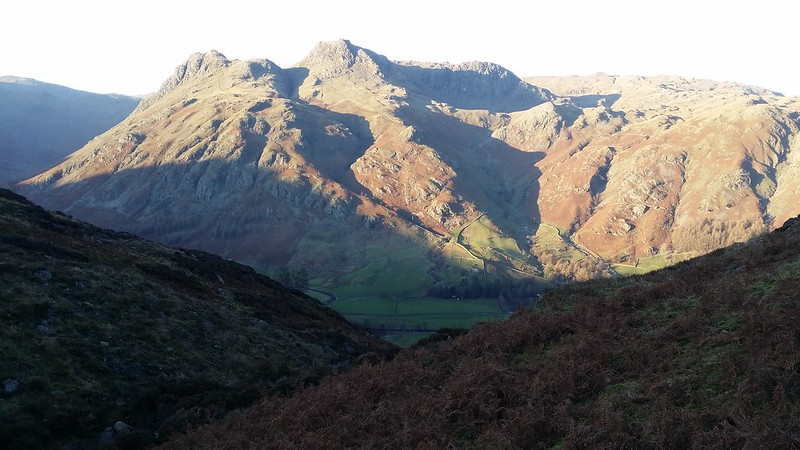 Langdale Pikes from Lingmoor Tarn #sh