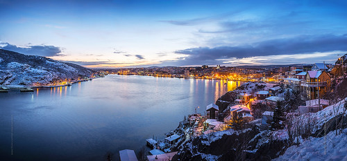 city winter sunset panorama white house snow canada cold ice skyline port newfoundland landscape evening twilight nikon scenery downtown cityscape waterfront harbour dusk hill wide stjohns panoramic clear bluehour nfld atlanticcanada d600 stjohnsharbour newfoundlandandlabrador downtownstjohns nikond600