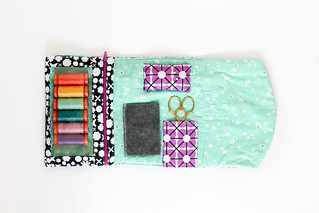 Geometric Bliss Fold Over Sewing Pouch
