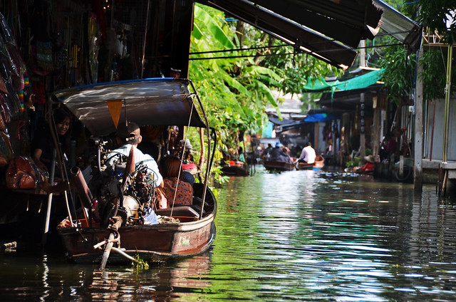 Barcas del mercado damnoen saduak