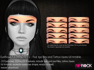 RipRock - EyeBrows Full perms KitV1 - vendor
