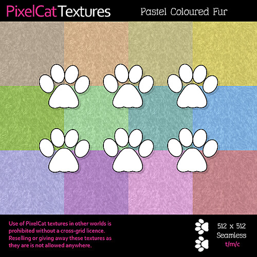 PixelCat Textures - Pastel Coloured Fur