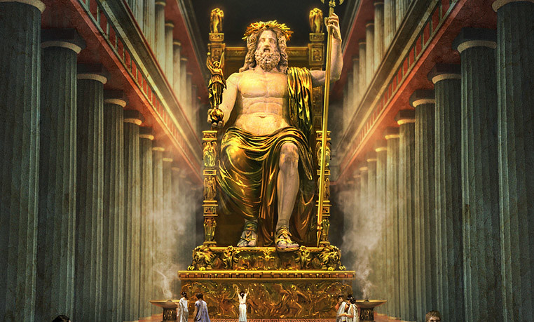 Depiction of Statue of Zeus at Olympia