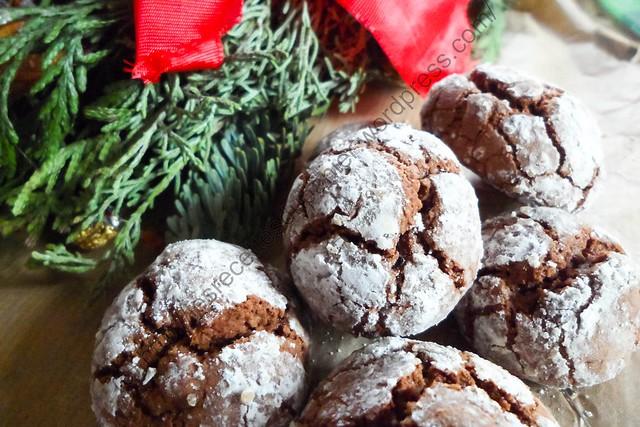 Crinkles au chocolat / Chocolate Crinkles
