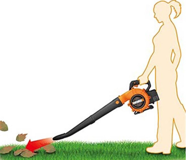 The 40v blower/sweeper produces 230km/h of maximum air speed
