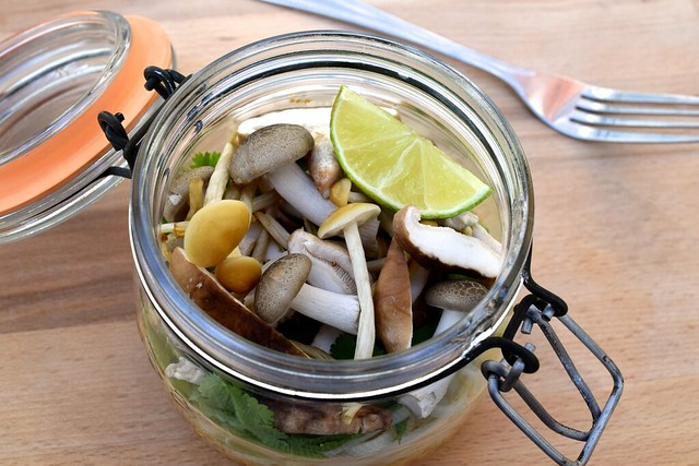 Packed Asian Mushroom 'Just Add Hot Water' Healthy Jam Jar Noodles
