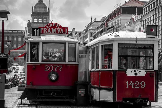 Czech Republic - Prague - Wenceslas Square (Václavské náměstí) - Tram Bar