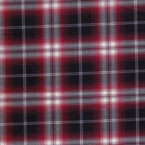 格文 格子 裙褲 製服 套裝 服裝布料 EC890035