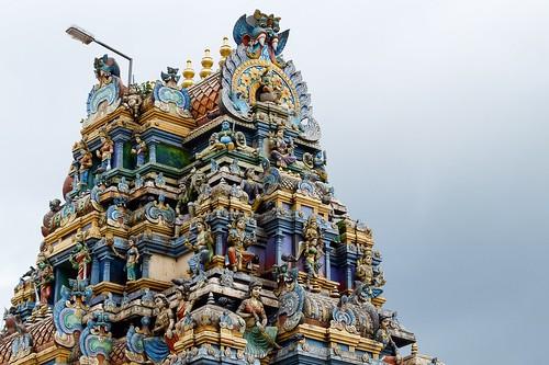 Hindu temple, Vellanad, Kerala, India