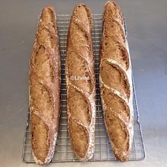 Stokbrood met desem en nigella- en sesamzaadjes