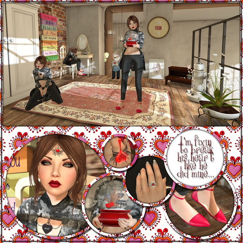 L'Anguisette, L'A, Koketka, Brixley, Slink, AvEnhancement, Mina, ZOZ, Biscuit, Olala, Cosmic Dust, Essenz, The Hipster Fair, HollyWeird, Diamante, SOL, Streets of Love, Gacha, Urban United, JOJ, Depraved Events, Jack or Jill Hunt, Toxxic Pandora, Scarlet Creative, Fetch, Serenity Style, House Hunt, StoraxTree, Storax Tree, Super Sales Weekend, floorplan, nani, NACH, BALACLAVA, BALACLAVA!!, Second Life, Momma's Style, JenJen Sommerfleck