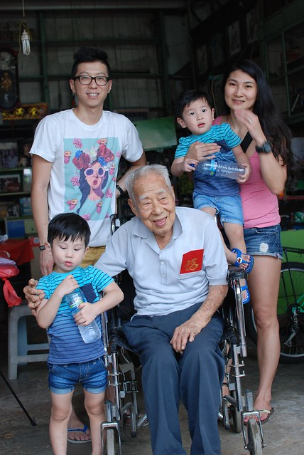 The Choo Family with my maternal Grandpa