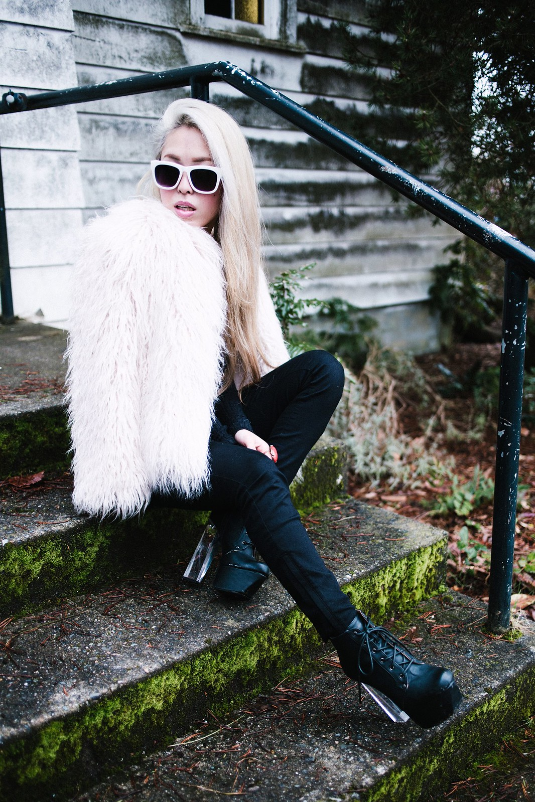 Forever 21 Sunglasses_ZARA Fur Coat amp Pants_Charlotte Russe Boots3a
