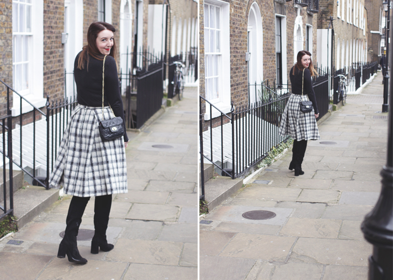 Zara Suede Knee High Boots, Bumpkin Betty Style Blog
