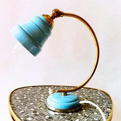 Mid Century Modern Style Gooseneck Lamp  www.lunartics.etsy.com #lamp #goosenecklamp #gooseneck #flexo