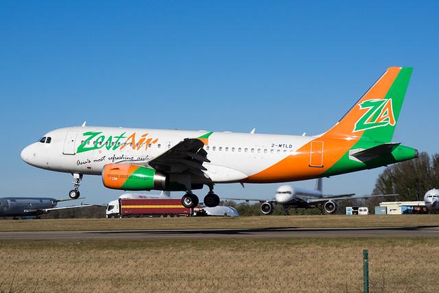 2-MTLD Zest Air Airbus A319