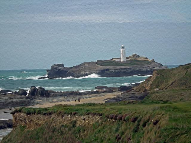 Godrevy NT Landscape Cornwall