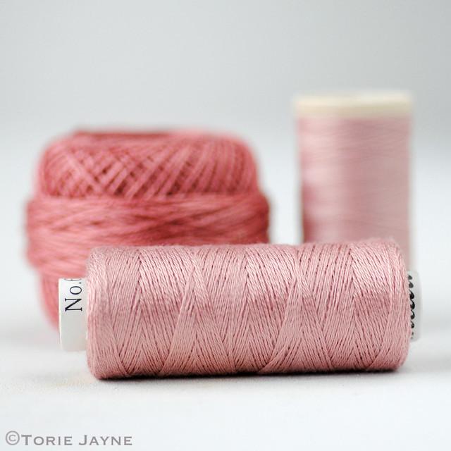Rose coloured threads
