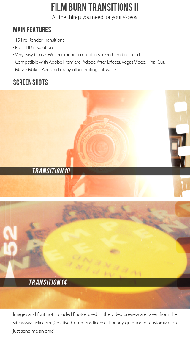 Film Burn Transitions Ii By Juan323 Videohive