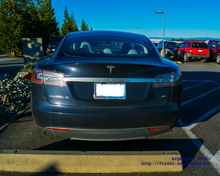 04 - Photo of the Tail of the Tesla Model S