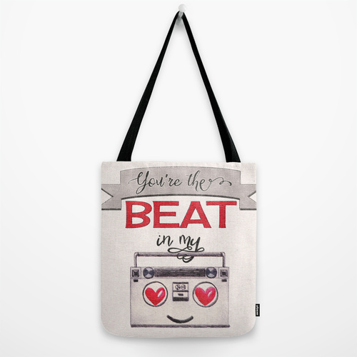 You're the Beat in My Boombox - tote bag by Squibble Design on Society6