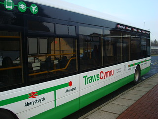 TrawsCymru bus at Haverfordwest railway station