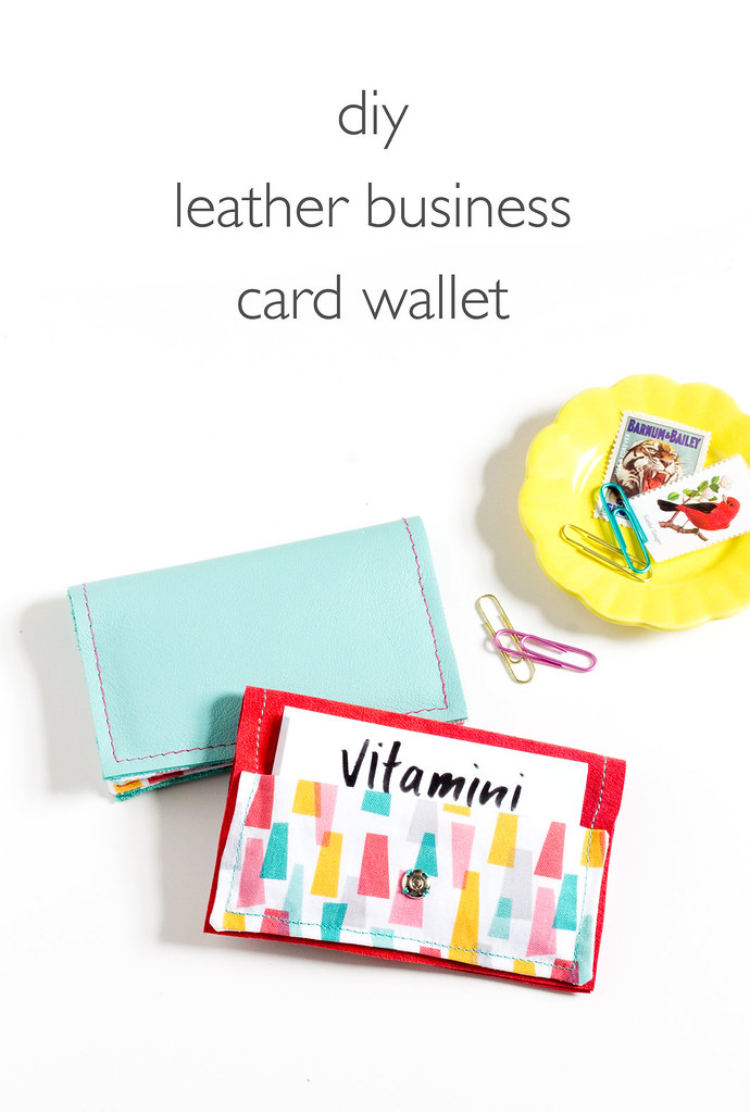 DIY Leather Business Card Wallet