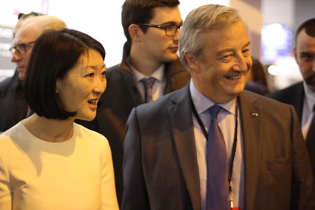 Fleur Pellerin et Vincent Montagne (SNE) - Salon du Livre de Paris 2015
