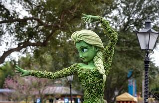 Elsa in the Epcot Flower and Garden Festival